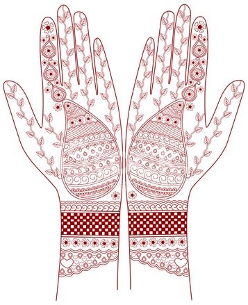 henna hand draw design stock vector freeimages com rh freeimages com Adult Coloring Vector Henna Design Cards