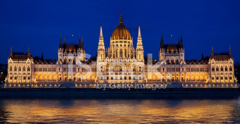 Ungerska Parlamentet I Budapest Ungern Stockfoton