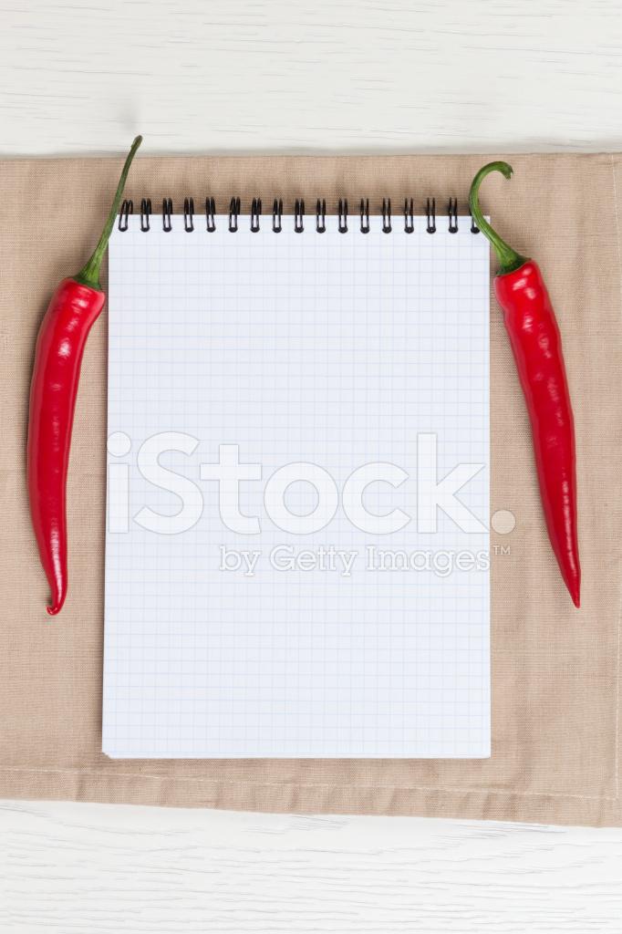 recipie メモや買い物リスト用のテンプレート ストックフォト