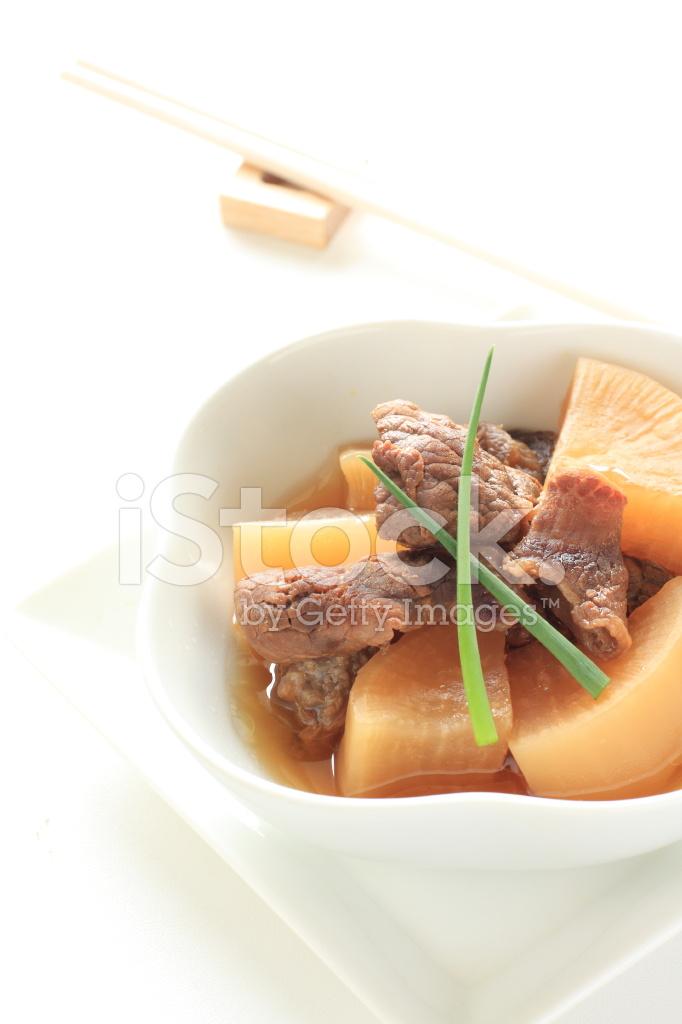 Chinesische Küche, Geschmorte Rindfleisch Sehnen UND Rettich ...