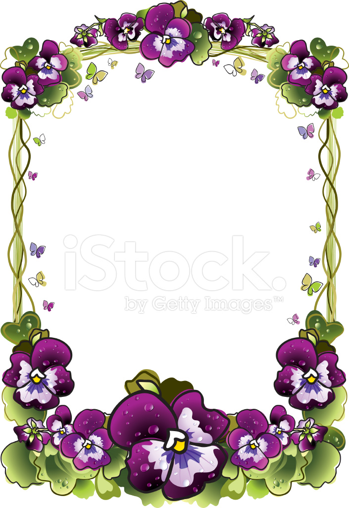 Frame of Flowers Stock Vector - FreeImages.com