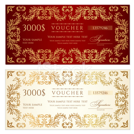 Awesome Voucher (gift Certificate) Template (banknote, Money, Currency, Awesome Ideas