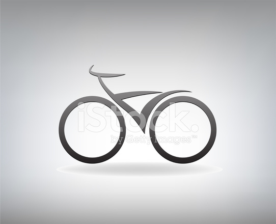 Bicicletta Stilizzata Illustrazione Vettoriale Stock Vector