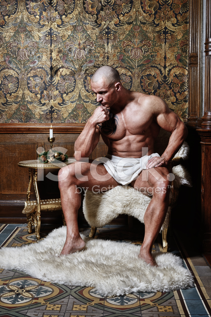 Muscle Man Sitting In A Chair Stock Photos Freeimages Com