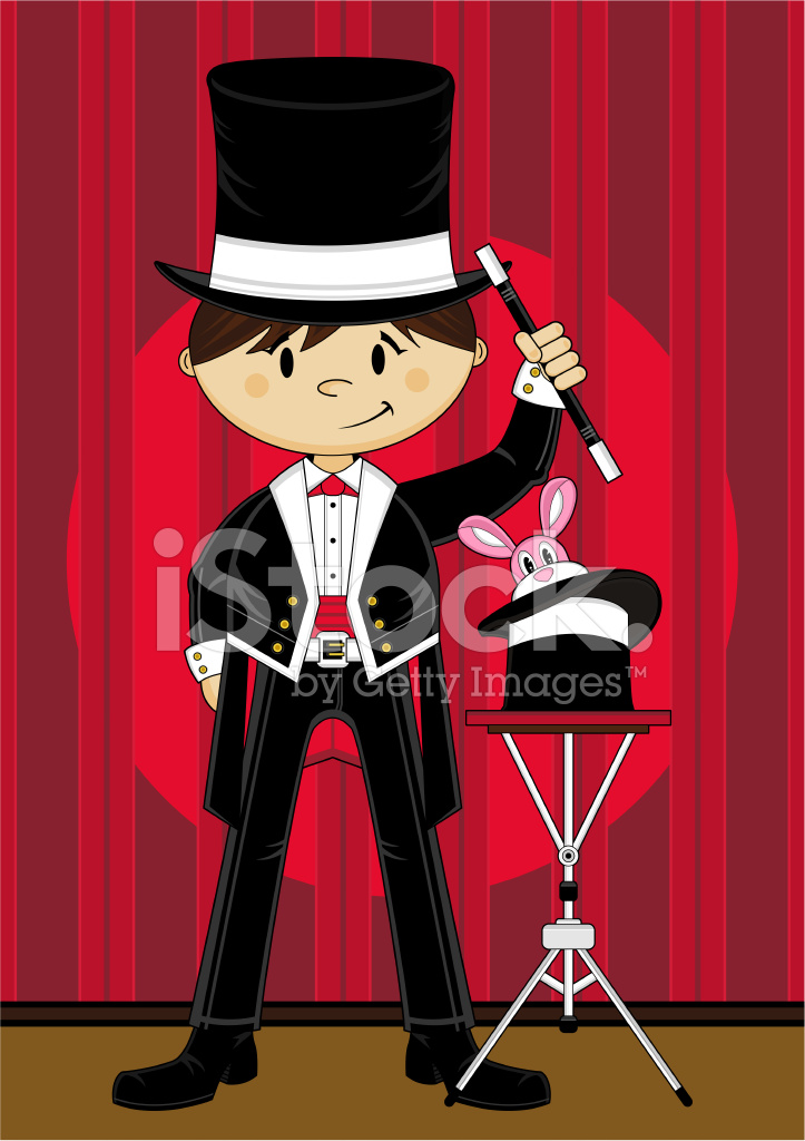 cartoon magician   rabbit on stage stock vector country music clip art graphics country music clipart border