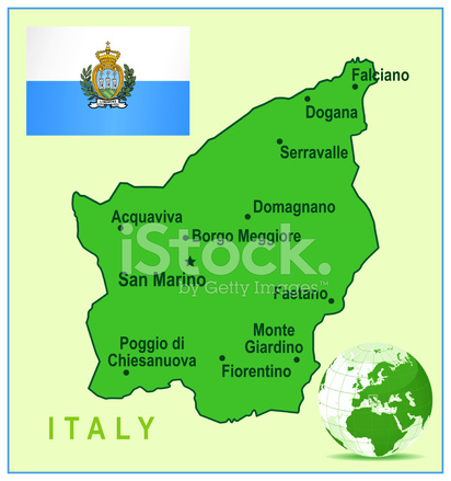 Green Map of San Marino Cities and Flag Stock Vector ... on tuvalu on world map, palau on world map, japan on world map, uzbekistan on world map, malta on world map, estonia on world map, andorra on world map, slovenia on world map, djibouti on world map, luxembourg on world map, serbia on world map, liechtenstein on world map, monaco on world map, brunei on world map, liberia on world map, singapore on world map, vatican city on world map, montenegro on world map, kosovo on world map, liechtenstien on world map,
