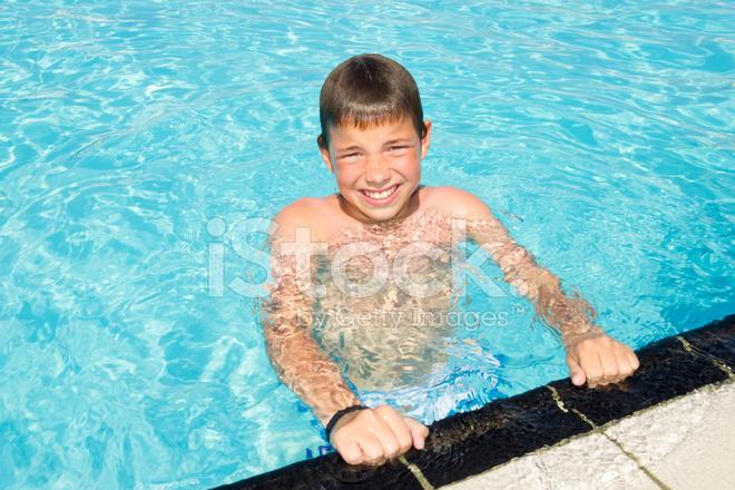 Cute Boys In The Pool