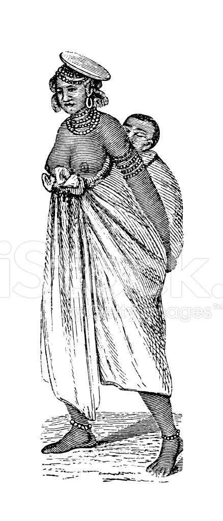フラニ語女性、アフリカ (旧式な...