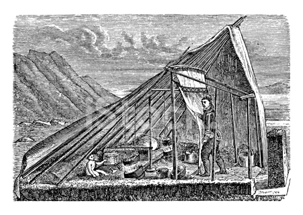 Premium Stock Photo of Summer Tent IN Tunu Greenland (antique Wood Engraving)  sc 1 st  FreeImages.com & Summer Tent IN Tunu Greenland (antique Wood Engraving) Stock ...