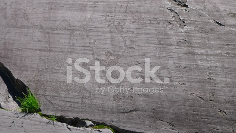 Rock carvings in valcamonica stock photos freeimages