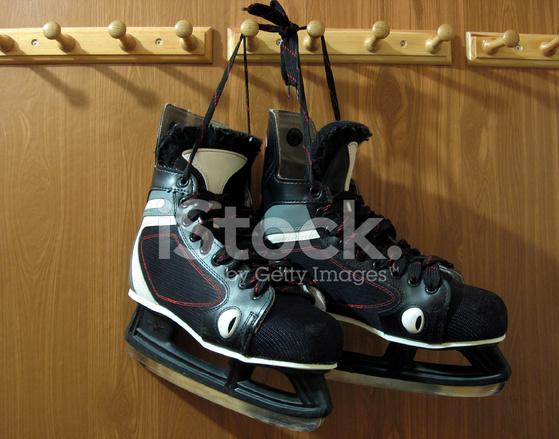 Hanging Hockey Skates stock photos - FreeImages.com