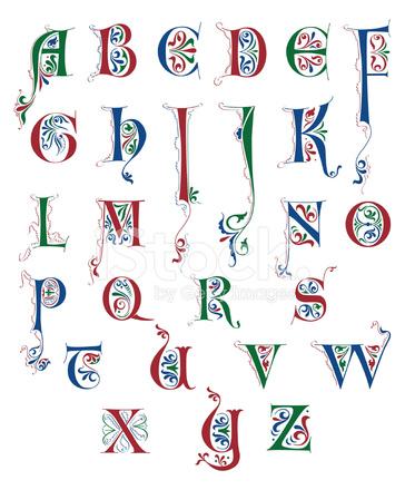 Illuminated Letters Alphabet T