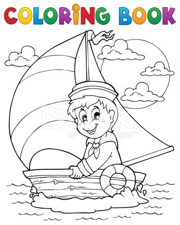 Tema DE Marinero DE Libro Para Colorear 1 Stock Vector - FreeImages.com