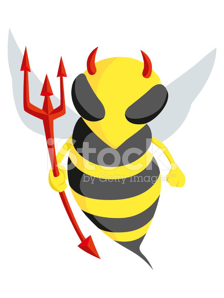 Devil Bee Stock Vector Freeimages Com