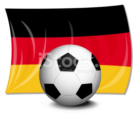 Fussball Deutschland Fahne Stock Vector Freeimages Com