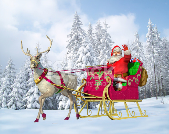 Santa claus on his sleigh and stock photos freeimages