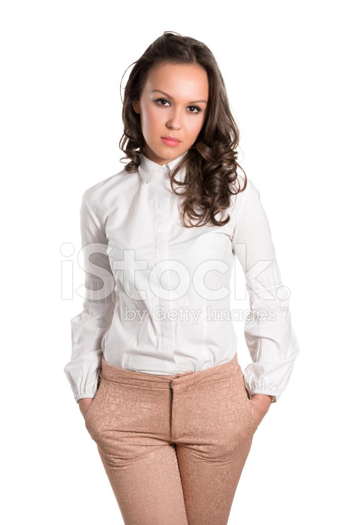 Junge Und Hubsche Frau Tragen Stilvolle Business Outfit Stockfotos Freeimages Com
