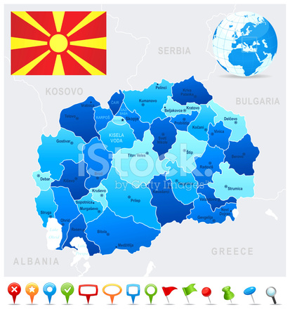Map of macedonia states cities flag and icons stock vector map of macedonia states cities flag and icons publicscrutiny Image collections