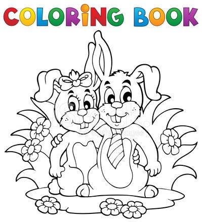 Tema Di Coniglio Libro Da Colorare 2 Stock Vector - FreeImages.com