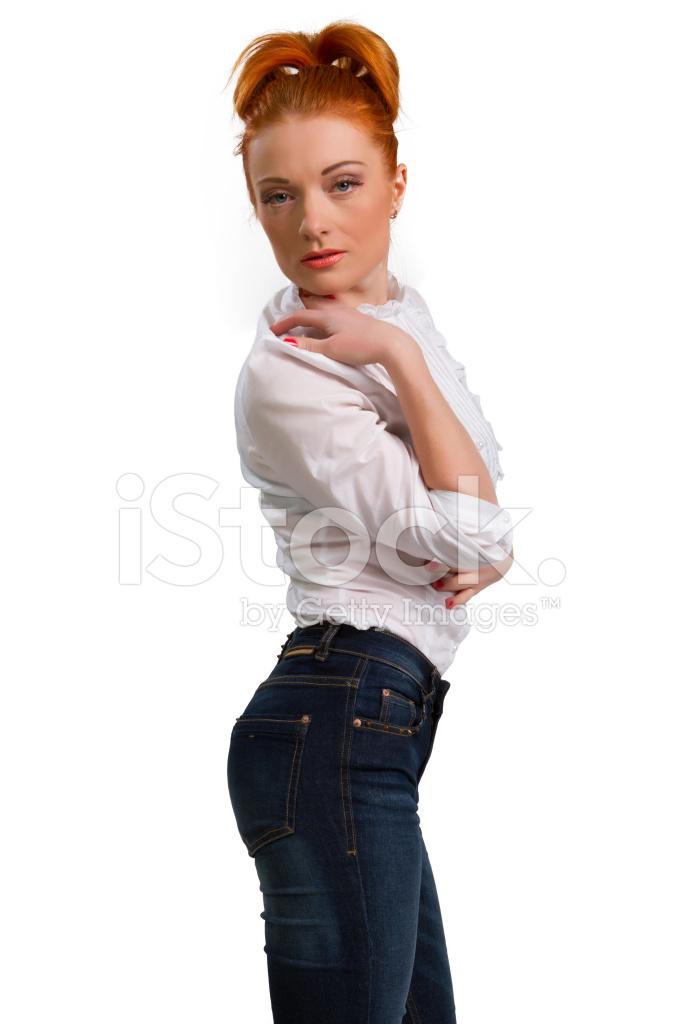 фото рыжих девушек в блузах