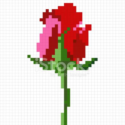 Fleur Rose Simple Pixel Stock Vector Freeimagescom
