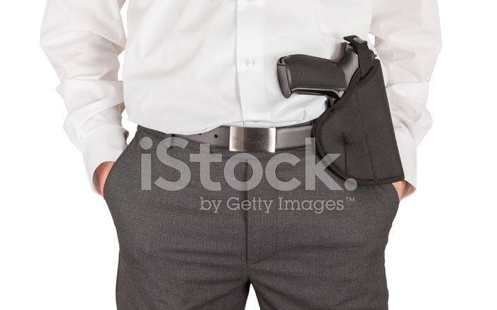 Secret Service Agent With A Gun stock photos - FreeImages.com
