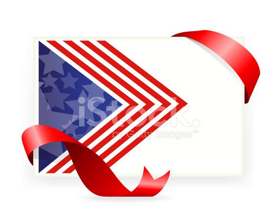 Drapeau Americain Cartes De Visite Avec Ruban