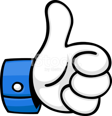 cartoon thumbs up stock vector   freeimages