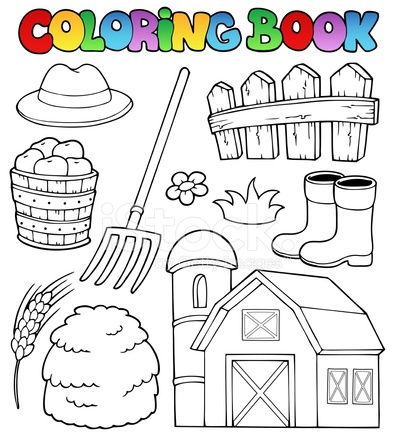 Tema DE Granja DE Libro Para Colorear 2 Stock Vector - FreeImages.com