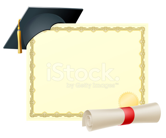 Graduate Certificate Background Stock Vector Freeimages Com