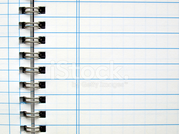 Blank Notebook Page Stock Photos