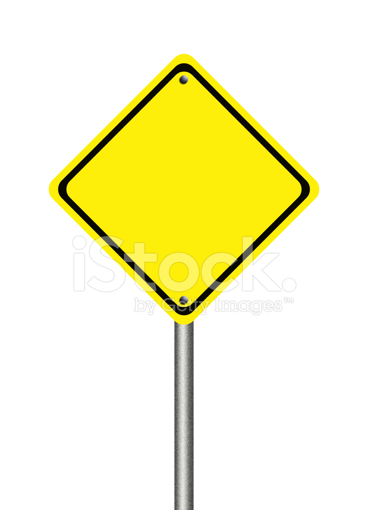Blank Yellow Traffic Sign Stock Photos Freeimages Com