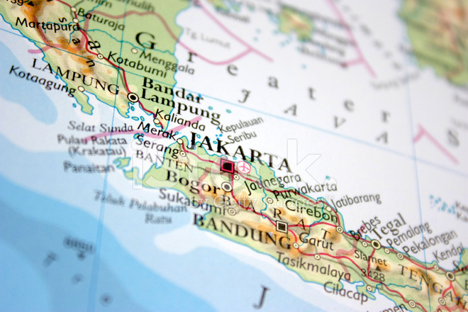 Karte Von Jakarta Stockfotos - FreeImages.com