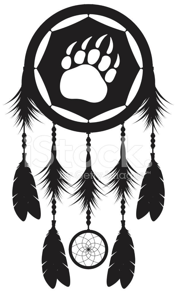 Dream Catcher Silhouette 1448142 on Native American Symbols