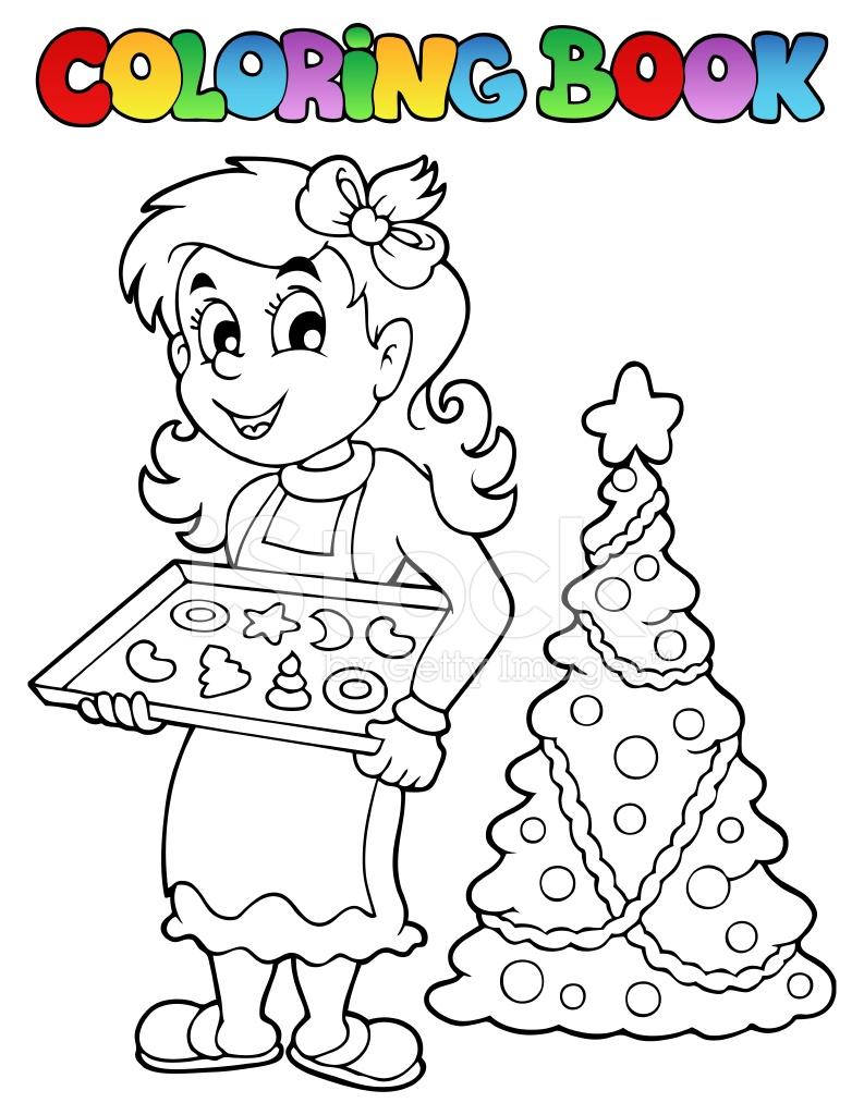 Libro Para Colorear Tema Navidad 9 Stock Vector - FreeImages.com
