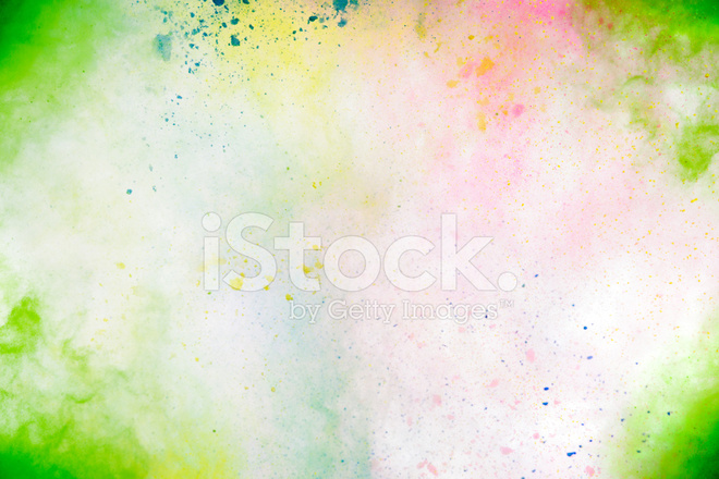 Holi Festival Colors On White Background Stock Photos