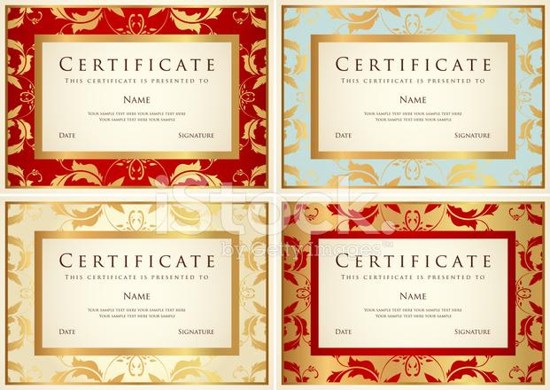 Zertifikat / Diplom / Coupon Auszeichnung Hintergrund Desi Stock ...
