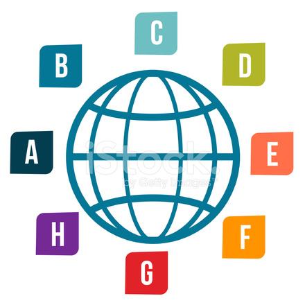 Drahtmodell Globe UND Etiketten Stock Vector - FreeImages.com