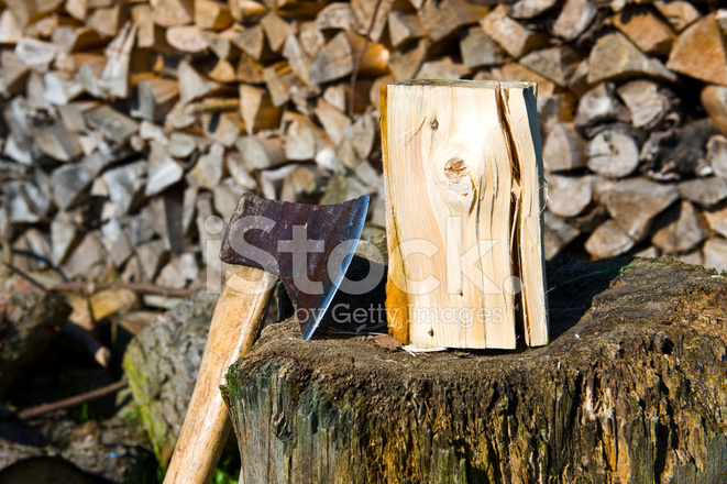 Ax and firewood stock photos freeimages