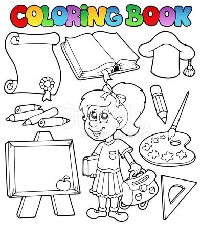 Temas DE Escuela Para Colorear Libro 2 Stock Vector - FreeImages.com