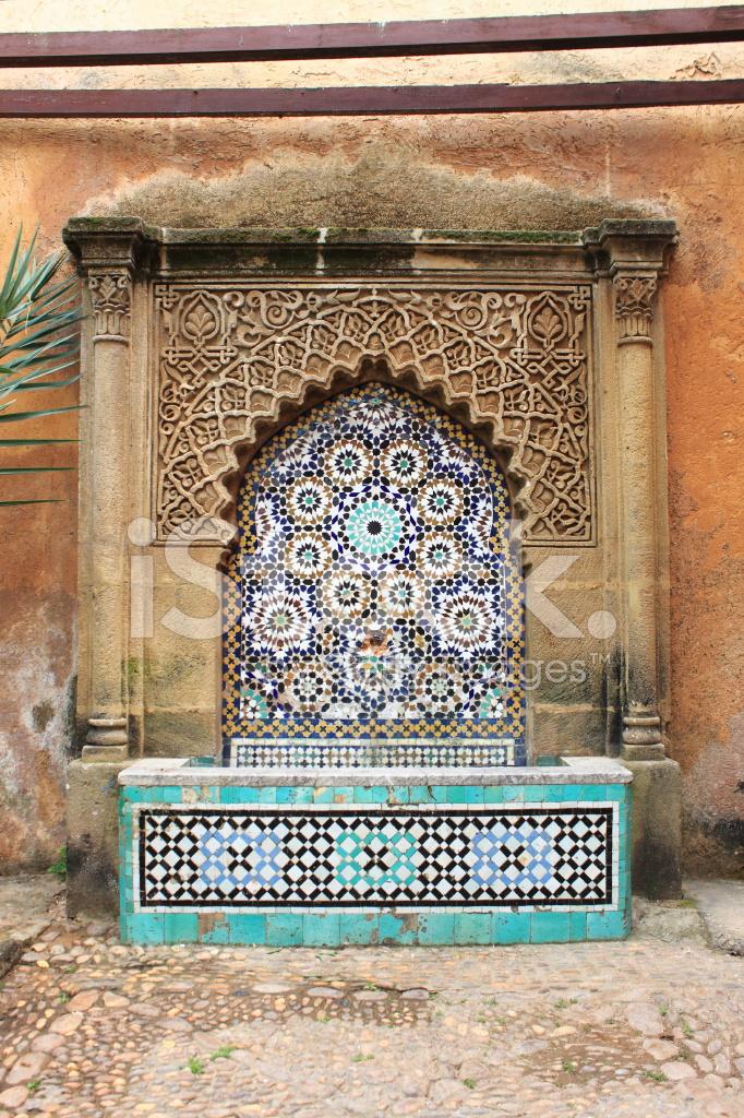 Marokkanische Brunnen MIT Mosaik Fliesen Stockfotos FreeImagescom - Mosaik fliesen marokko