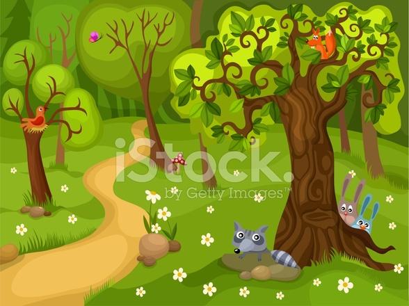 首页 付费图 动物与野生动物 森林背景