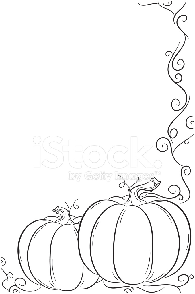 Simple Pumpkin Frame Stock Vector - FreeImages.com