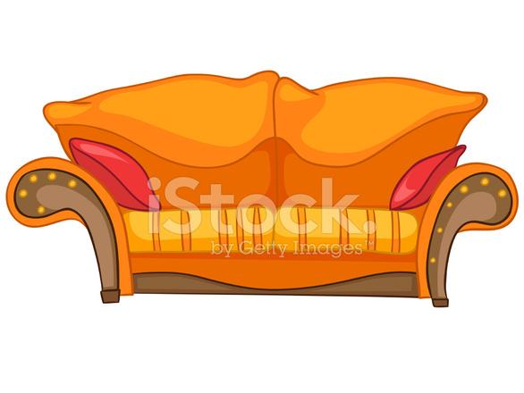 dibujos animados hogar muebles sofá fotografías de stock ... - Dibujo De Muebles