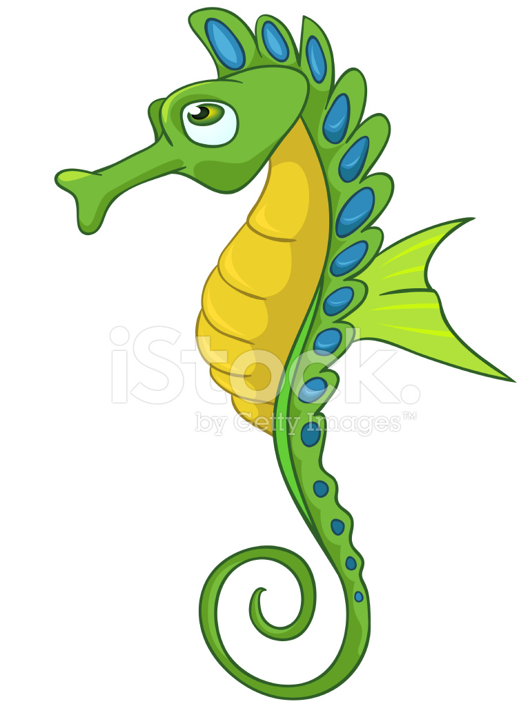 hippocampe de personnage de dessin anim u00e9 stock vector clip art seashore clip art seahorse red
