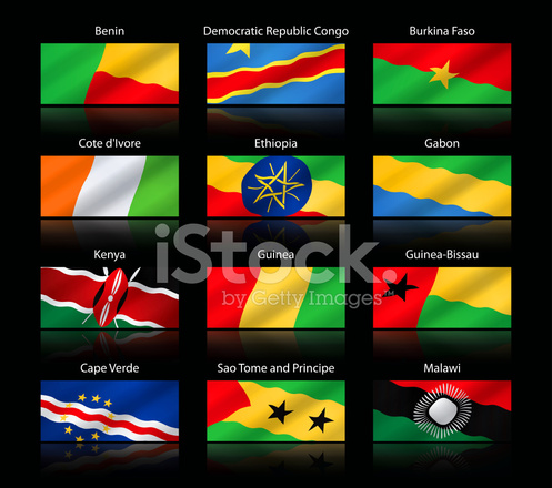 Wide Cropped Flags Africa Stock Vector - FreeImages com