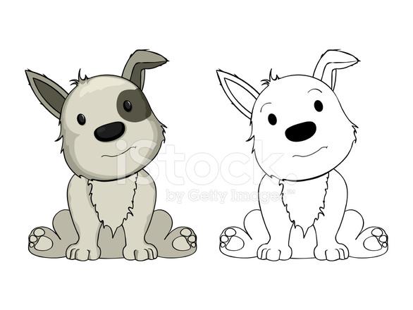 filhote de cachorro dos desenhos animados stock vector freeimages com