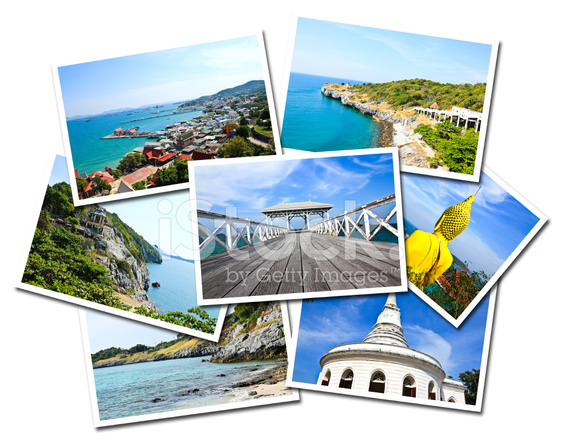 Collage Of Sichang Islands Chonburi Thailand Postcards