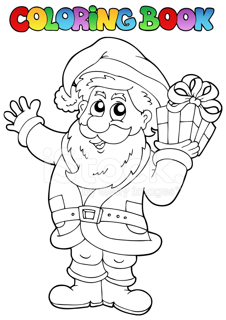 Tema DE Papá Noel Libro 1 DE Colorear Stock Vector - FreeImages.com