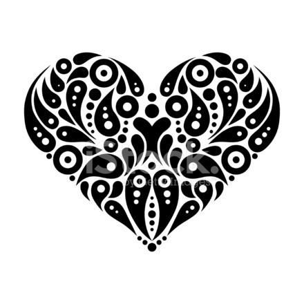 decorative heart tattoo stock vector. Black Bedroom Furniture Sets. Home Design Ideas